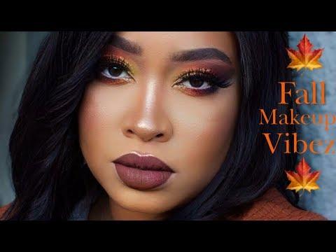Autumn Vibez 🍁| Fall Makeup Glam Tutorial | Yolanda Pharms thumbnail