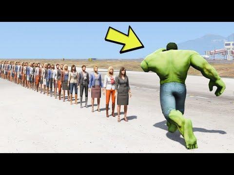 HULK BIR YUMRUKLA KAÇ KIŞIYI ÖLDÜRÜR ? (GTA 5) thumbnail
