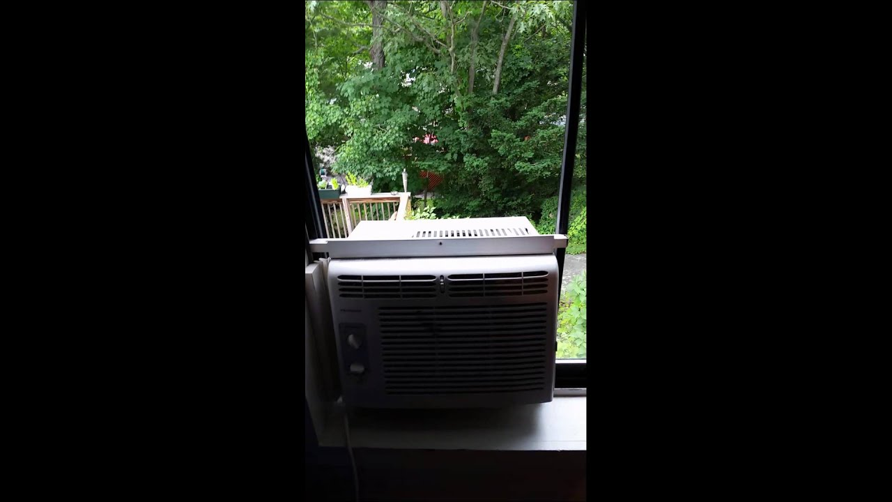 install an air conditioner on a sliding window youtube. Black Bedroom Furniture Sets. Home Design Ideas