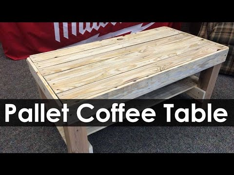 Pallet Coffee Table | Project Ideas   YouTube