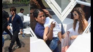 Shahrukh Khan And Wife Gauri Khan With Sleeping Abram Returns From Alibaug