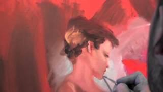 Пишем танцовщицу в красном  Игорь Сахаров  Уроки живописи маслом