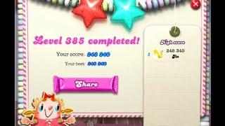 Candy Crush Saga Level 385 ★★ NO BOOSTER