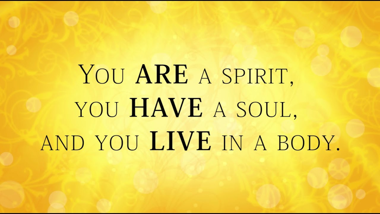 Your Spirit Soul And Body Youtube