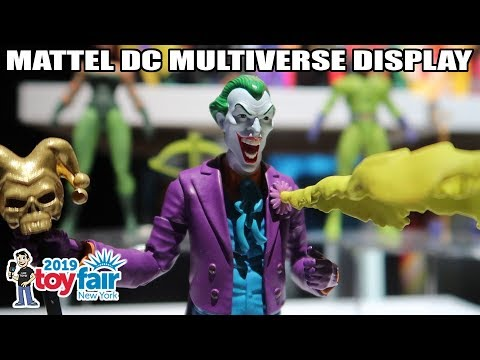 Mattel DC Multiverse Product Display at New York Toy Fair 2019