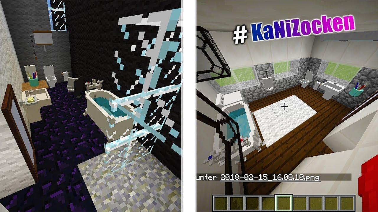 KAANS MODERNES BADEZIMMER vs NINAS MODERNES BADEZIMMER! Minecraft DecoCraft  Build Battle #KaNiZocken