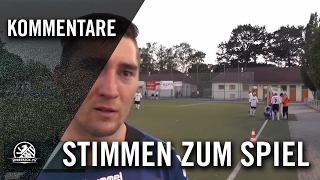 Die Stimmen zum Spiel (FC Hertha 03 Zehlendorf - FC Internationale, Testspiel) | SPREEKICK.TV