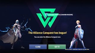 Marvel Future Fight Alliance Conquest Gameplay #1(Outcaster Alliance)