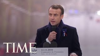 'President Macron Seems To Rebuke President Trump In World War I Commemoration Speech | TIME