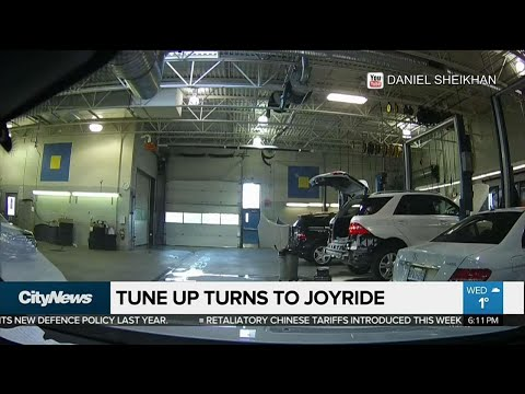 Dashcam Captures Joyride During Service Appointment