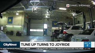 Dashcam captures joyride during service appointment