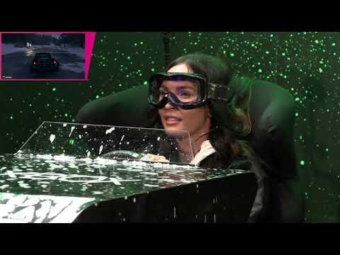 Megan Fox gets rain, snow and mud on her in  Forza Horizon 4 Simulator Challenge