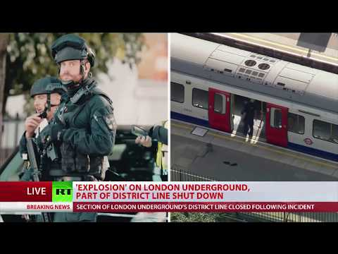 Explosion on London Underground, people injured