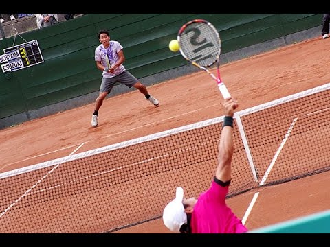 【札幌国際OP2015】内山靖崇vs鈴木貴男[Tennis:Yasutaka Uchiyama vs Takao Suzuki]