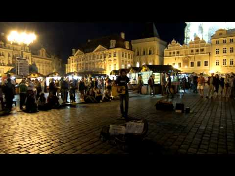 Giovanni Bassano — Knockin' on Heaven's Door @ Old Town Square, Prague