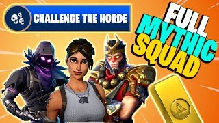 Download Video 100% MYTHIC SQUAD | Challenge the Horde | Fortnite Save the World PvE MP3 3GP MP4