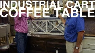 Industrial Cart Coffee Table | The Garden Home Challenge With P. Allen Smith