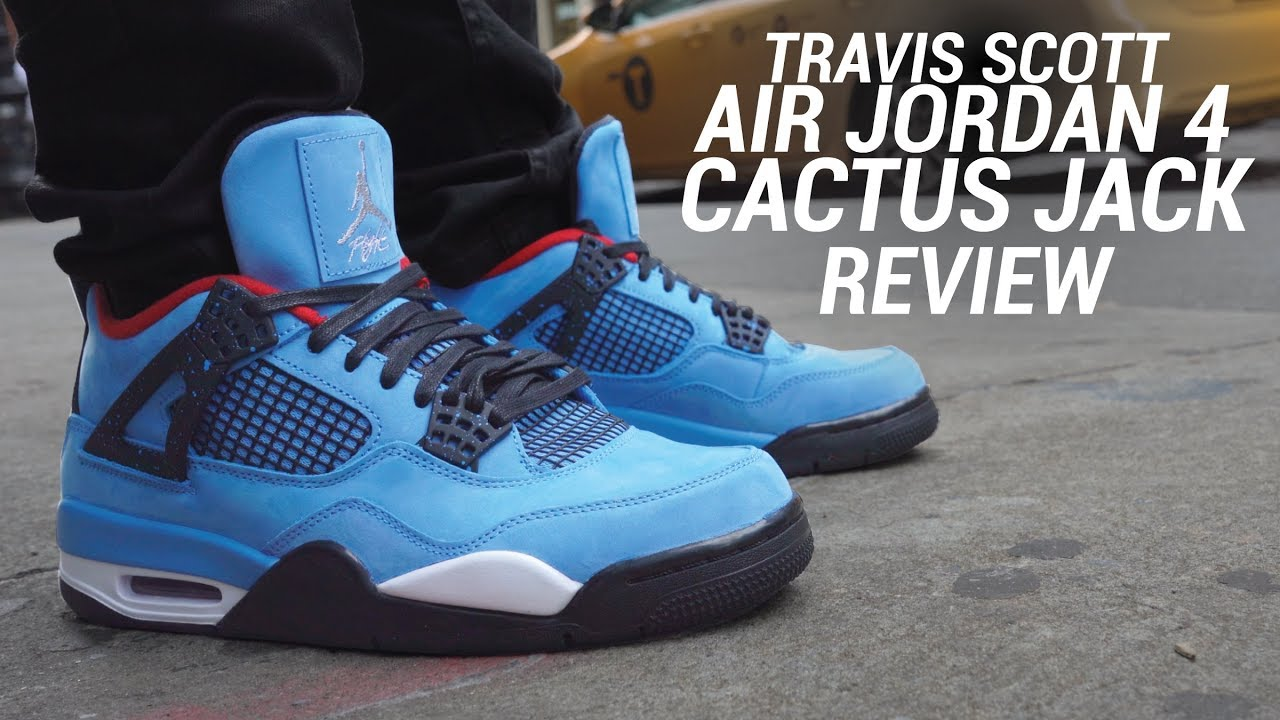 4992b97d66c5 AIR JORDAN 4 TRAVIS SCOTT CACTUS JACK REVIEW - YouTube
