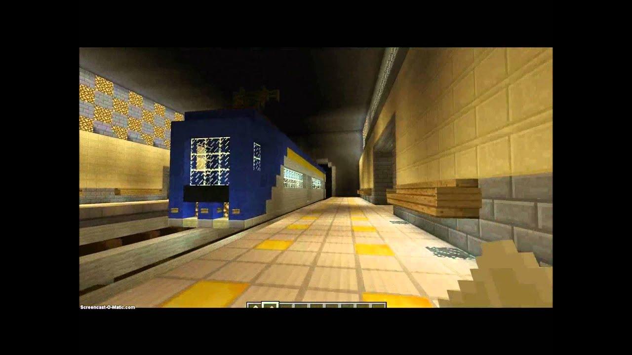 метро в майнкрафт