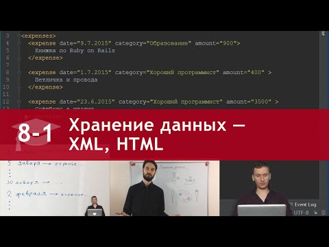 Урок 8 (часть 1): Хранение данных — формат XML, HTML