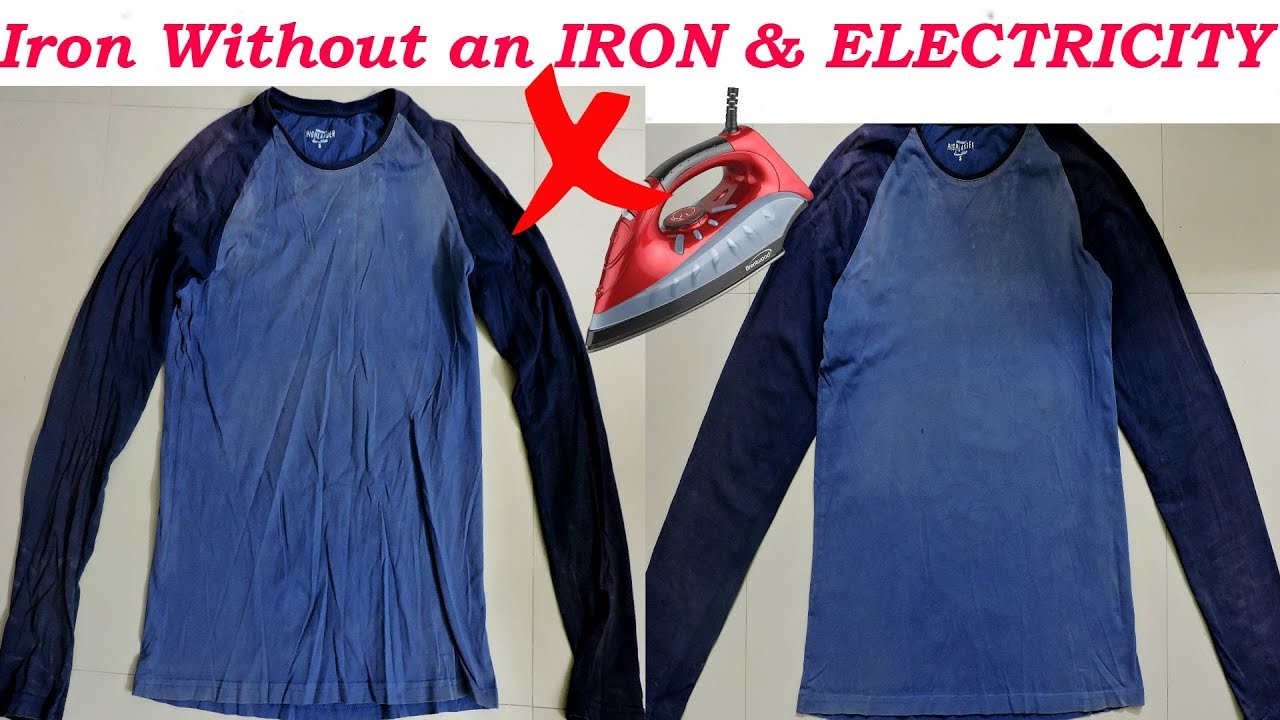 how to iron your clothes without an iron electricity iron only using a pan youtube. Black Bedroom Furniture Sets. Home Design Ideas