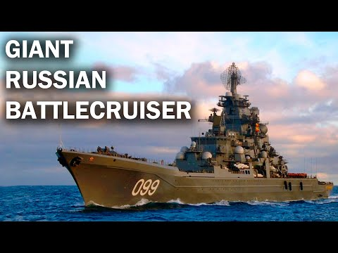 Pyotr Velikiy - the largest nuclear cruiser in the world