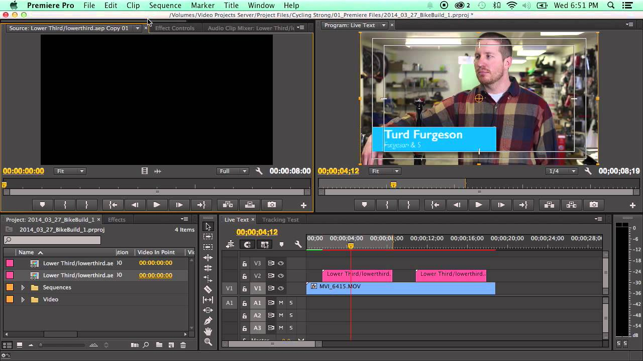 How to Use The New Live Text Templates in Adobe Premiere CC 2014 ...