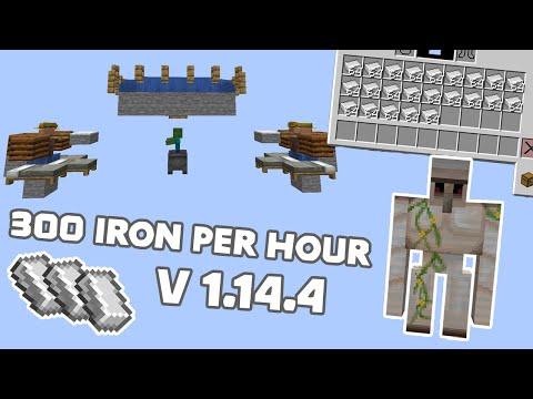 IRON FARM Minecraft 300 IRON PER HOUR 1.14.4