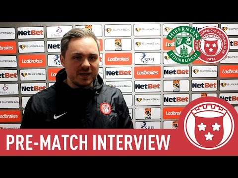 Hibs vs Accies - Robert Watson Pre-Match Interview