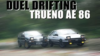 TRUENO AE 86 BLACK LIMITED VS AE 86 INITIAL D
