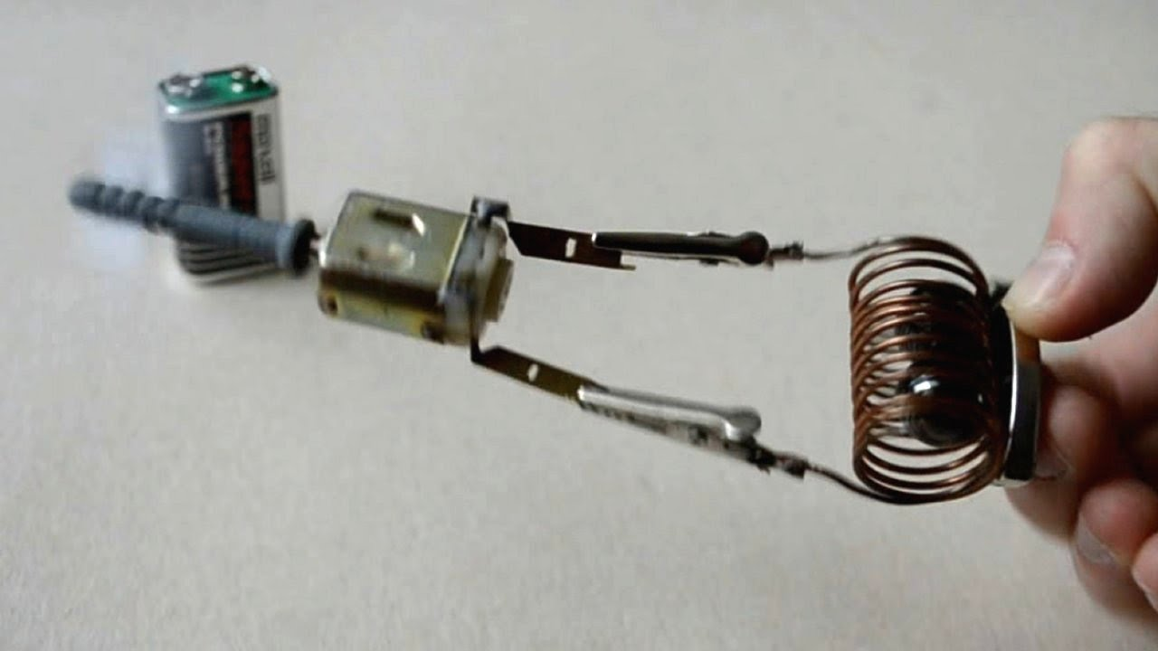 Free energy generator tested on Magnetic Mini Motor (DC 9V ...