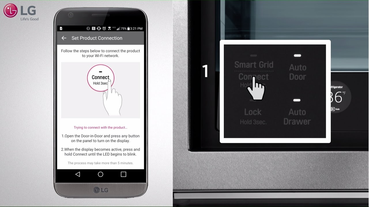 LG Signature Refrigerator - Connect WiFi (SmartThinQ®) - YouTube