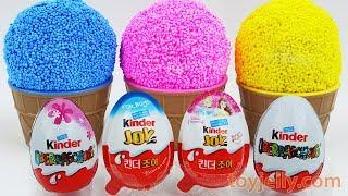 Play Foam Ice Cream Surprise Cups Learn Colors & Numbers Kinder Joy Kinder Surprise Eggs Kids Toys