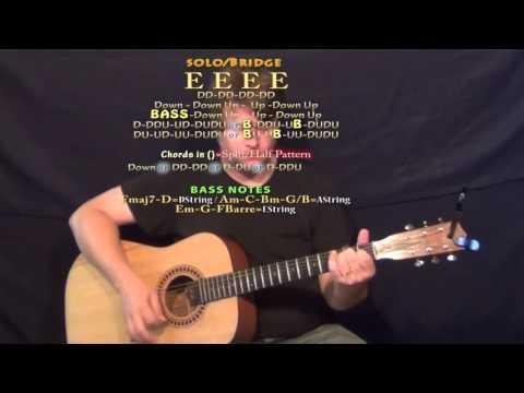 Gonna (Blake Shelton) Guitar Lesson Chord Chart - E C#m A