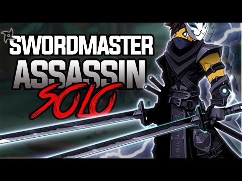 AQW - SwordMaster Assassin Class SOLOS ARANX! (How To Use Properly)