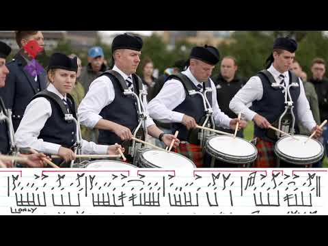 SFU Pipe Band Drum Corps Led By J. Reid Maxwell World Pipe Band Championships 2018