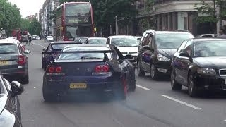 Nissan Skyline GTR Burning rubber in the STREETS!