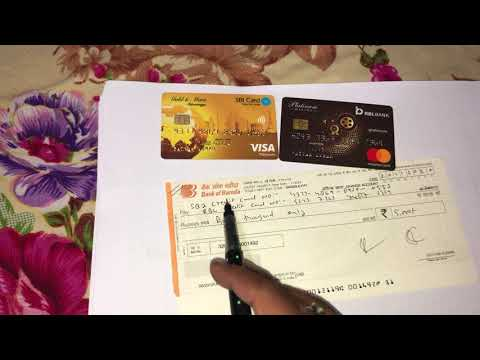 credit card payment cheque se kaise kare
