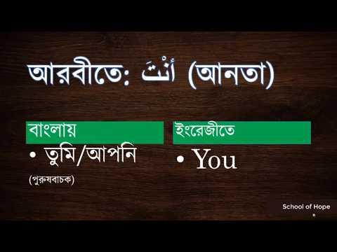 Pronoun in Arabic (Bangla version)  School Of Hope