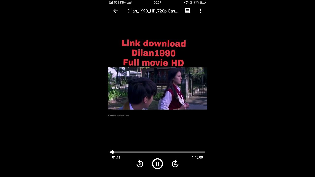 cara download film dilan 1990 full movie hd