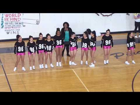 The girls from the hip hop class from.  highline high school.