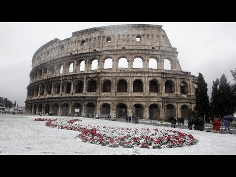 Snow in Rome Italy, for 1st time █▬█ █ ▀█▀