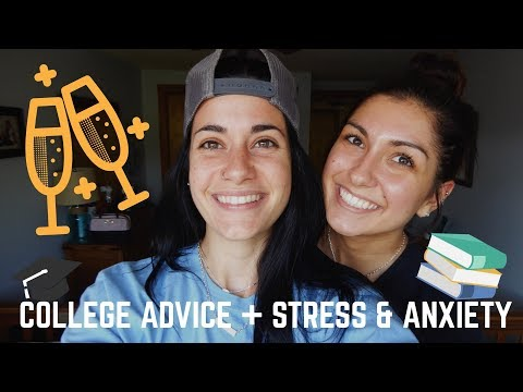 COLLEGE ADVICE // STRESS & ANXIETY (& our first fight on camera??..)