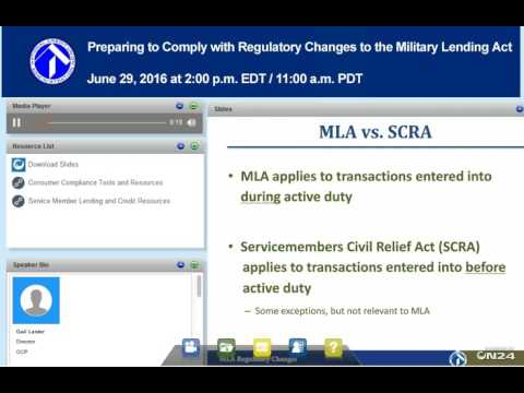Preparing to Comply with Regulatory Changes to the Military Lending Act
