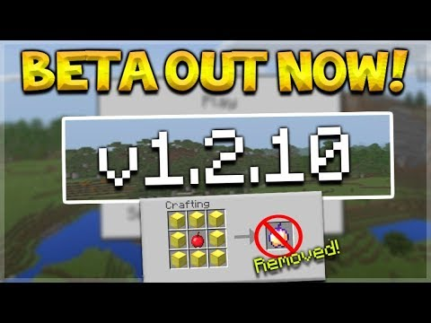 NEW MINECRAFT PE 1.2.10 UPDATE BETA - GOD APPLE REMOVED & IMPORTANT CHANGES!