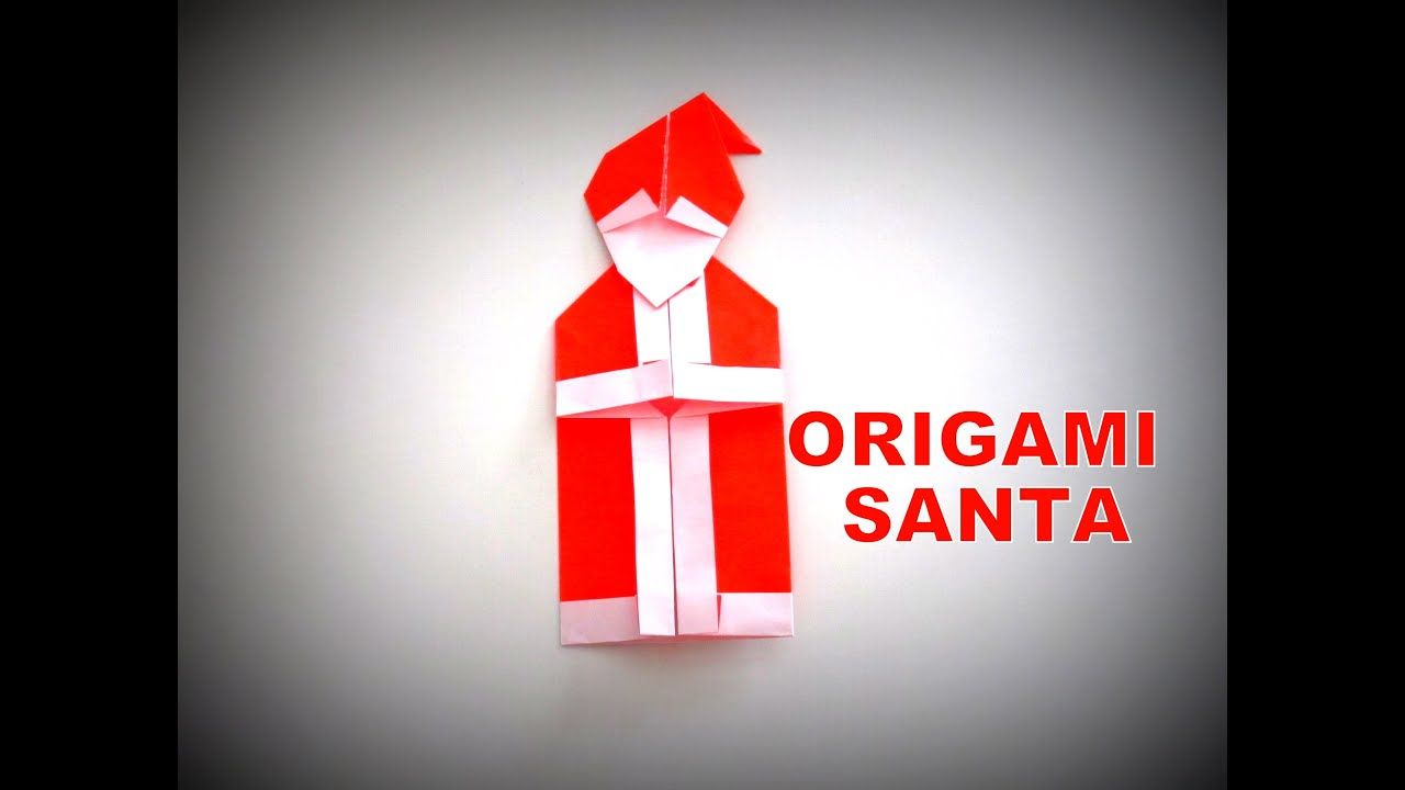 Origami how to make a santa claus christmas decoration for Make origami santa claus