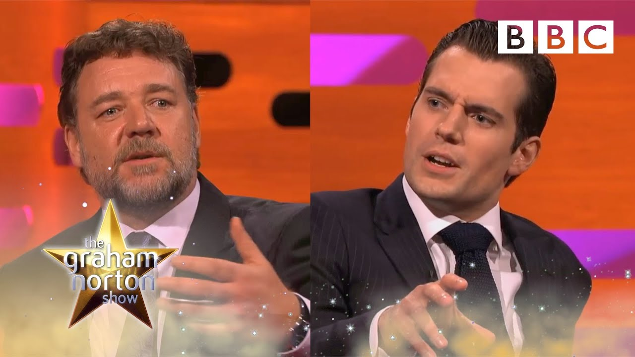 Download Henry Cavill and Russell Crowe on sex scenes and kissing | The Graham Norton Show - BBC