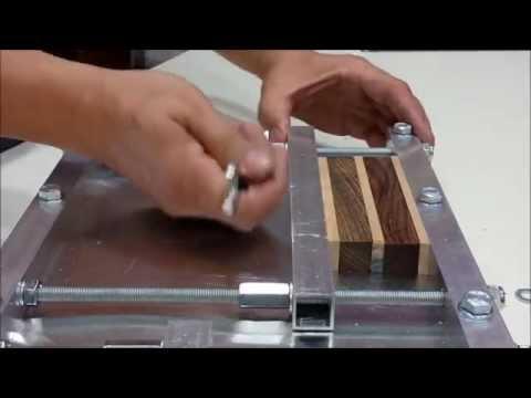Prensa casera para madera youtube for Herramientas ceramica artesanal