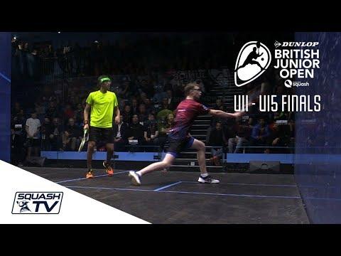 Squash: U11 - U15s Highlights - Dunlop British Junior Open 2018
