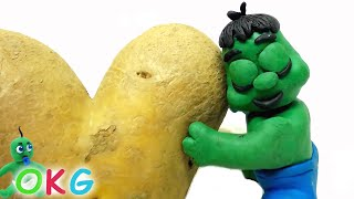 Giant Potato Stop Motion   OKG Animation Cartoons   Short Clay Film